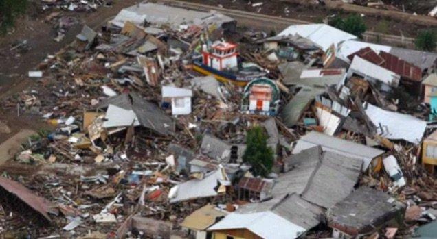 Ciudad Constitución (Chile) tras el tsunami de 2010